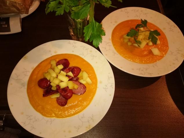 Тыквеный суп-крем с имбирём