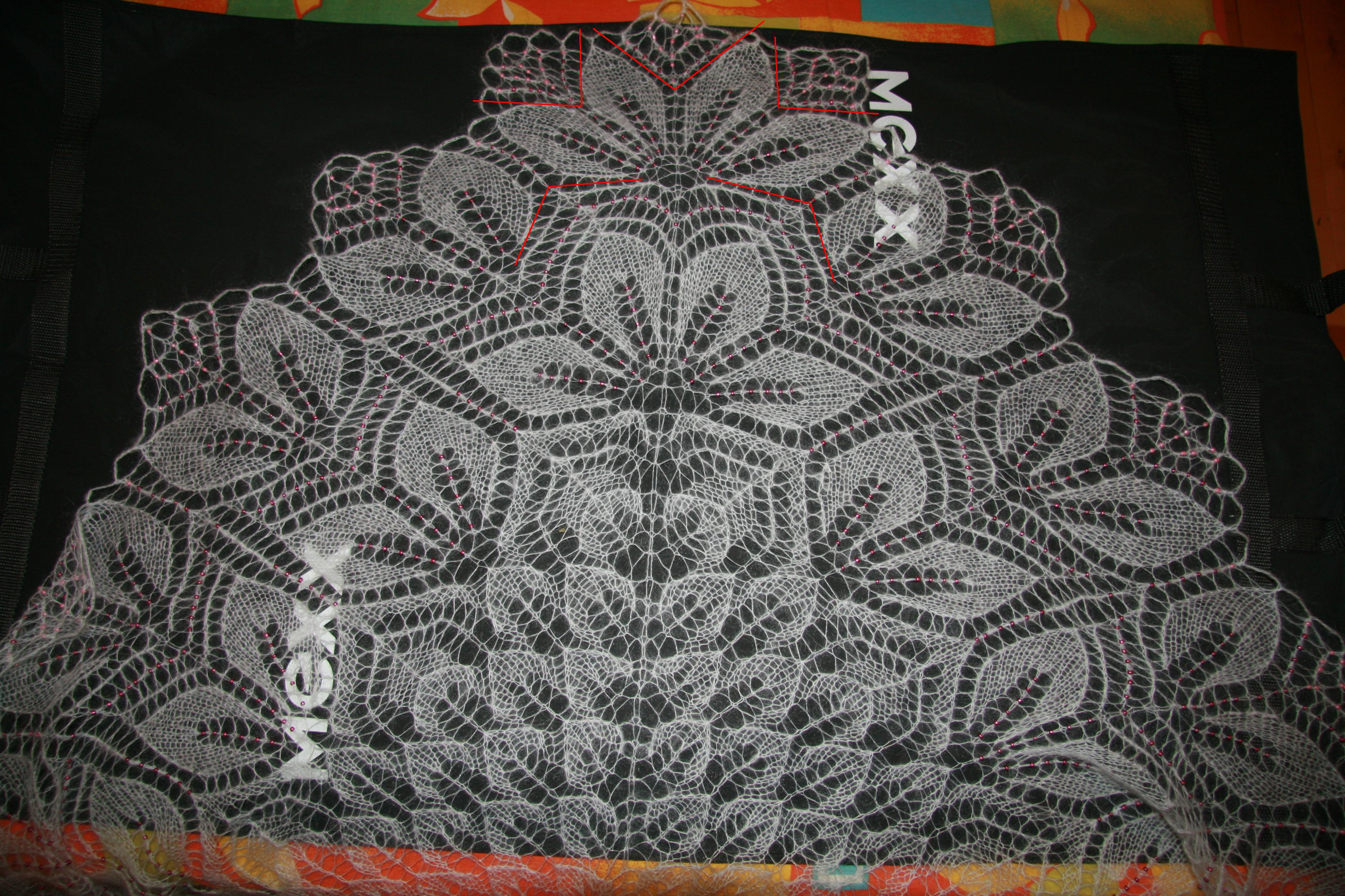 вязание спмцами шаль схема