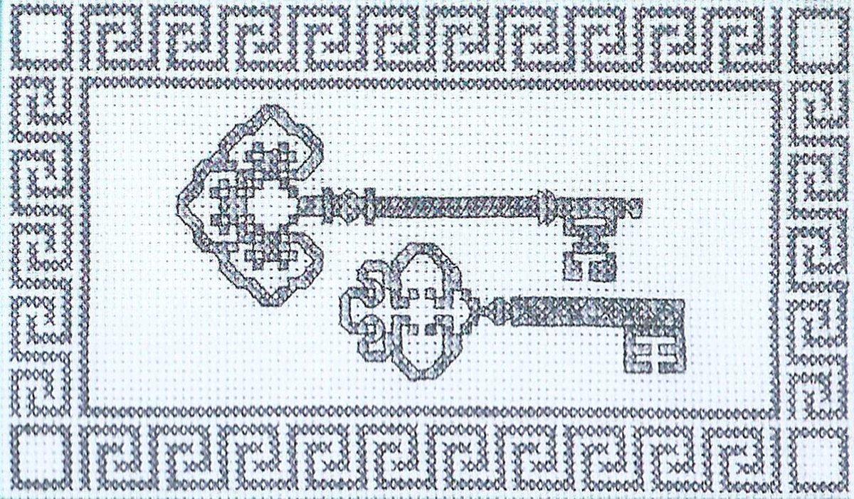 Схема ключика для вышивки