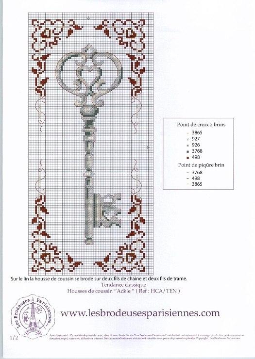 Ключи в схемах вышивки