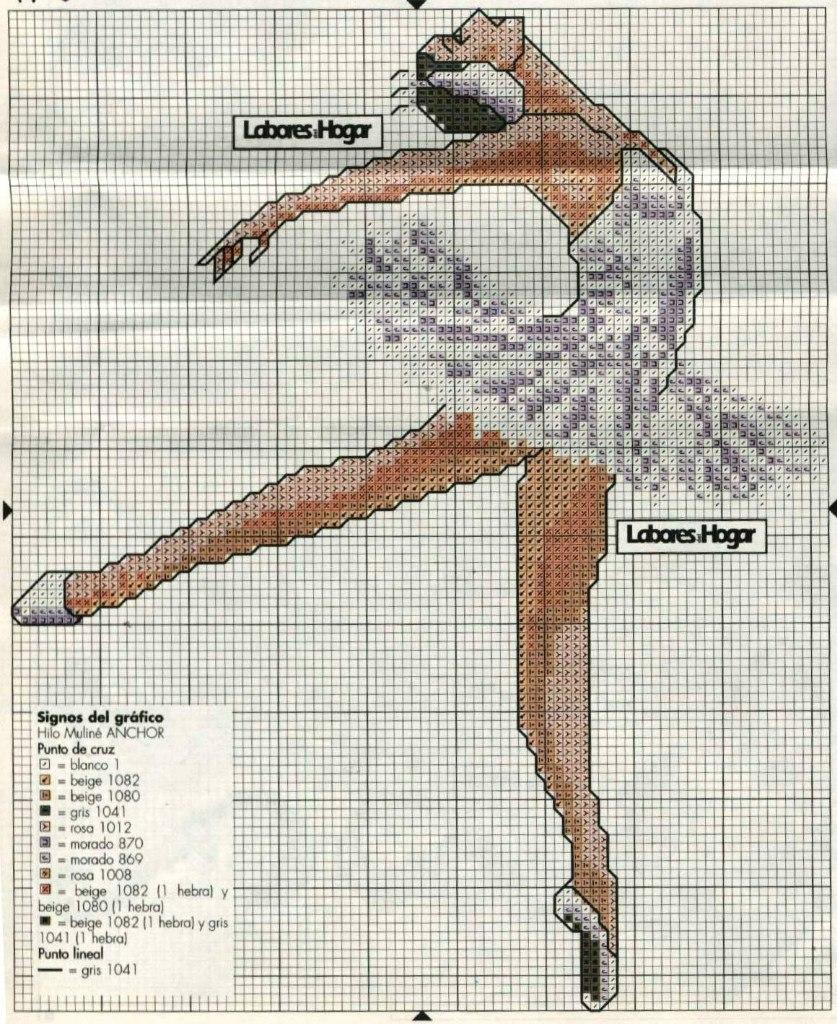 Схемы вышивок балета