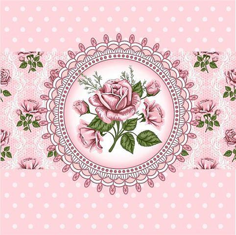 Розовый фон вышивка