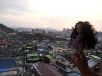 рассвет и гостиница в Корее