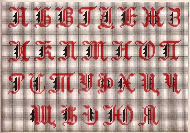 схемы, русский алфавит