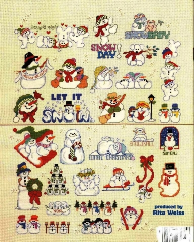 схемы снеговиков.