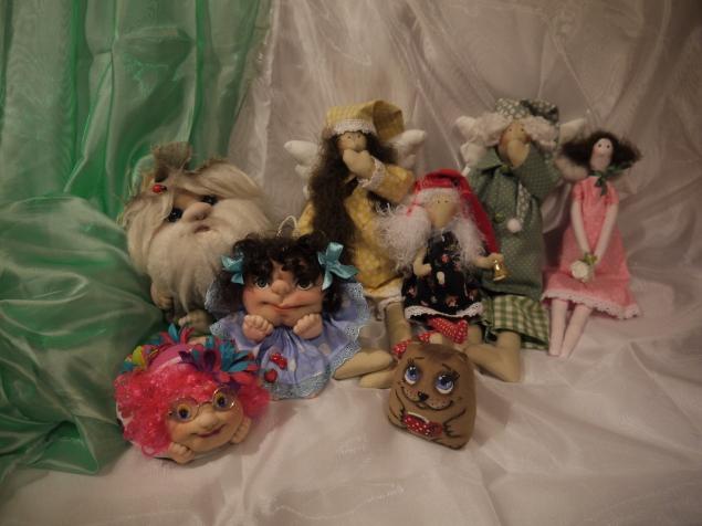 Тильдочки и чулочные куколки