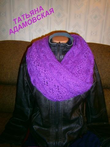 Комплект спицами( шарф и повязка)