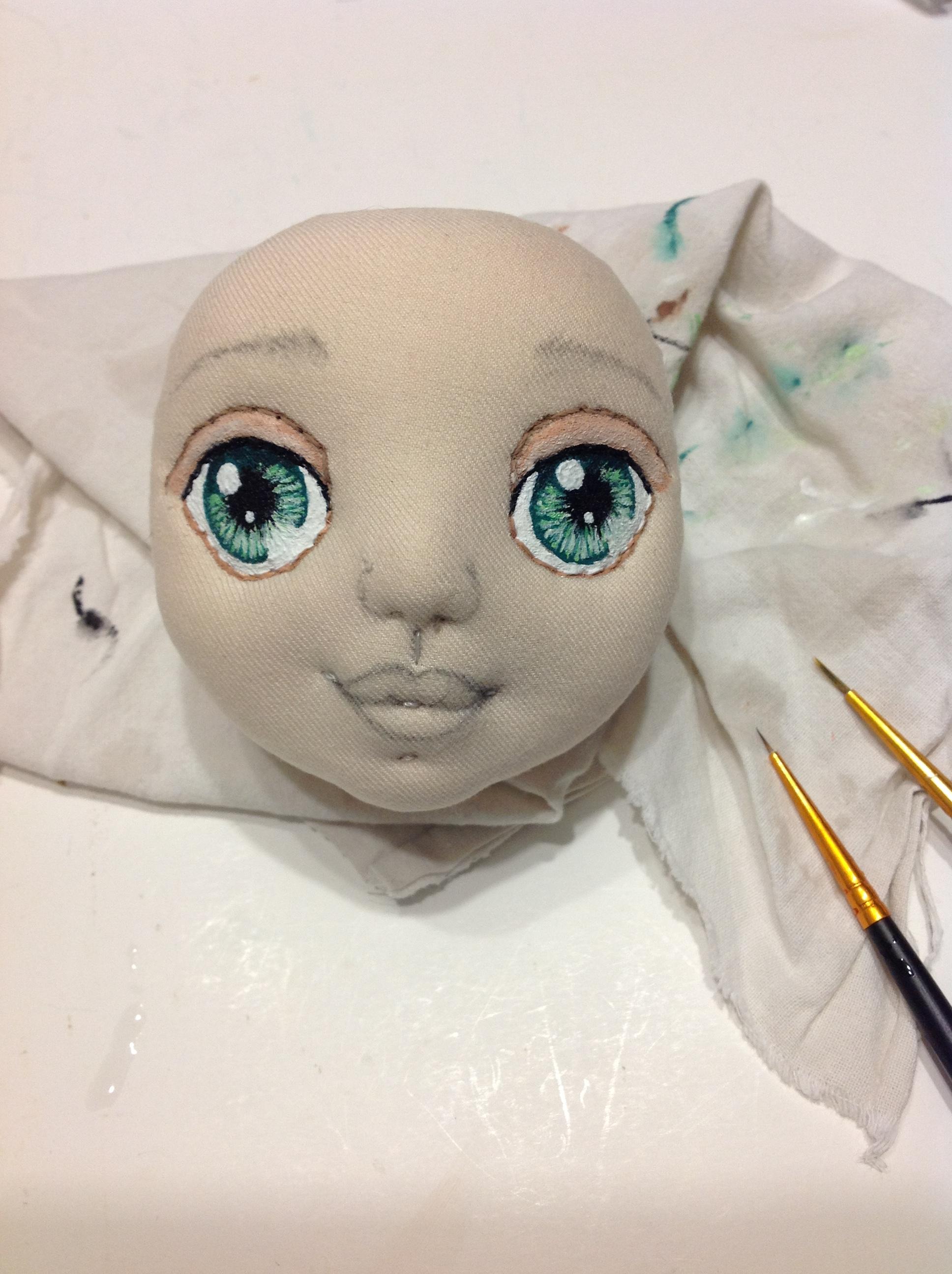 Глазки у кукол своими руками
