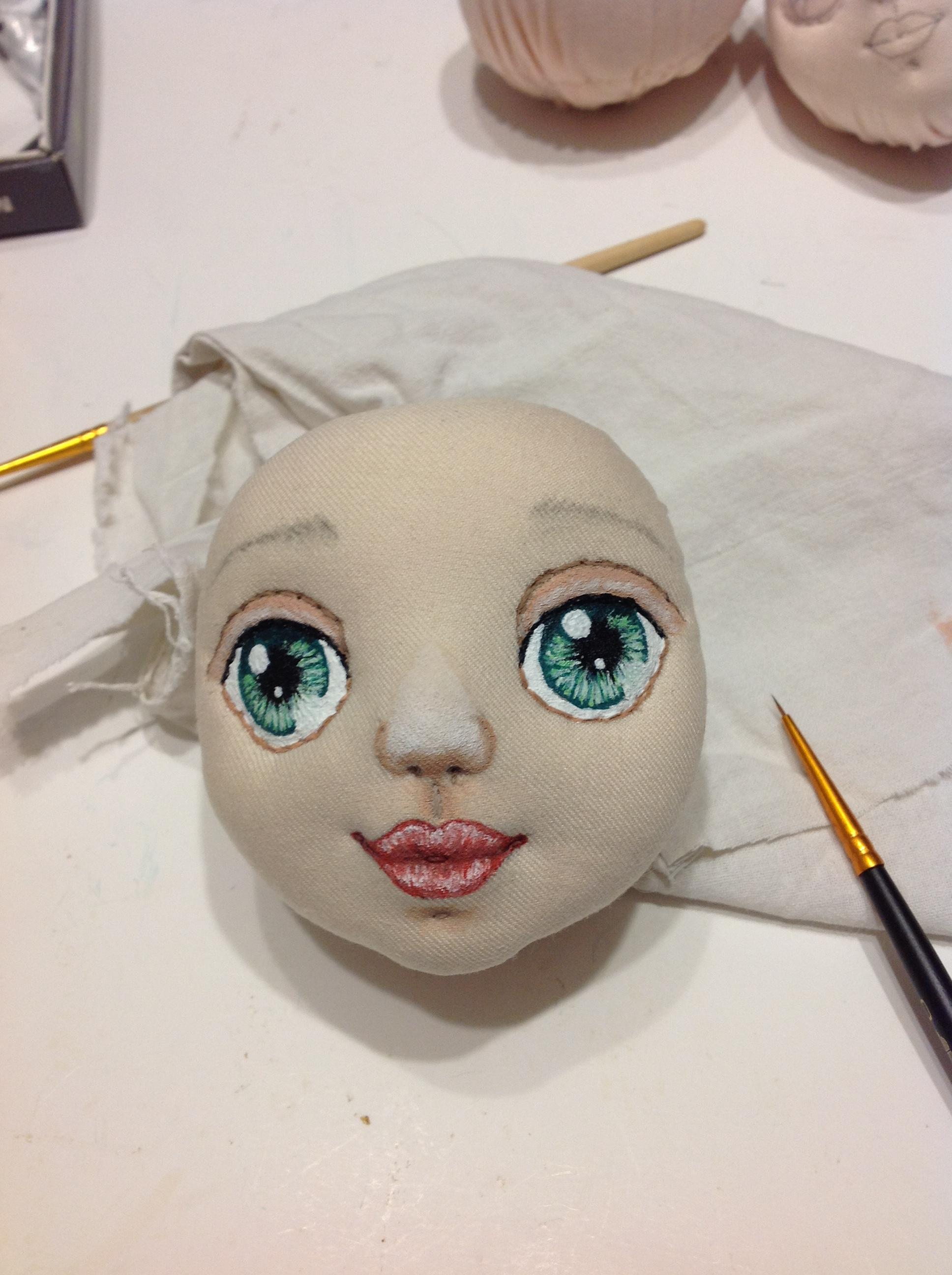 Как нарисовать кукле лицо своими руками 16