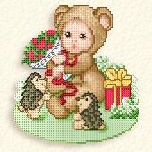 Медвежонок с ежиками