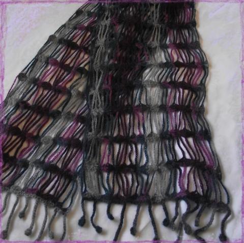 Женский шарф всего из 75г пряжи.