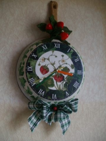 Часы-сковорода.