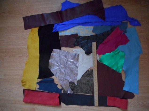Лоскуты натуральной кожи для рукоделия