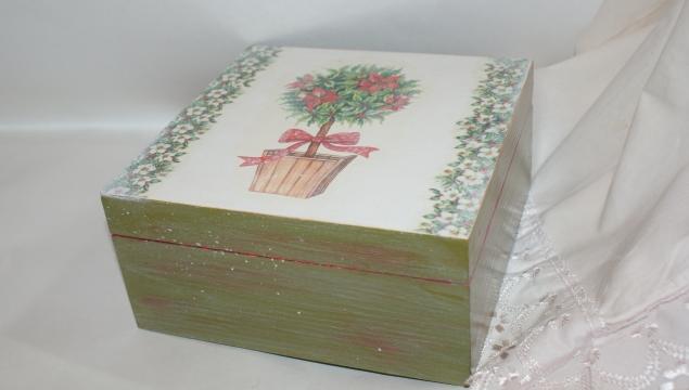 Шкатулка,,Новогодняя,, и купюрница,,Розы из старого сада,,