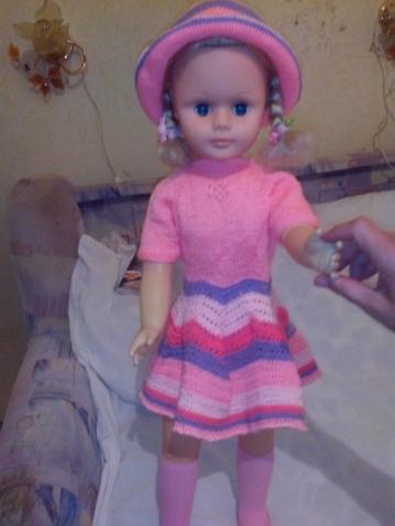 реставрированная кукла Даша