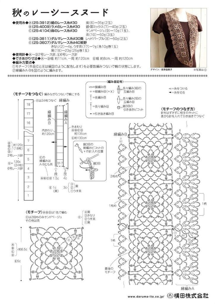 Схемы вязания снуд или шарф труба