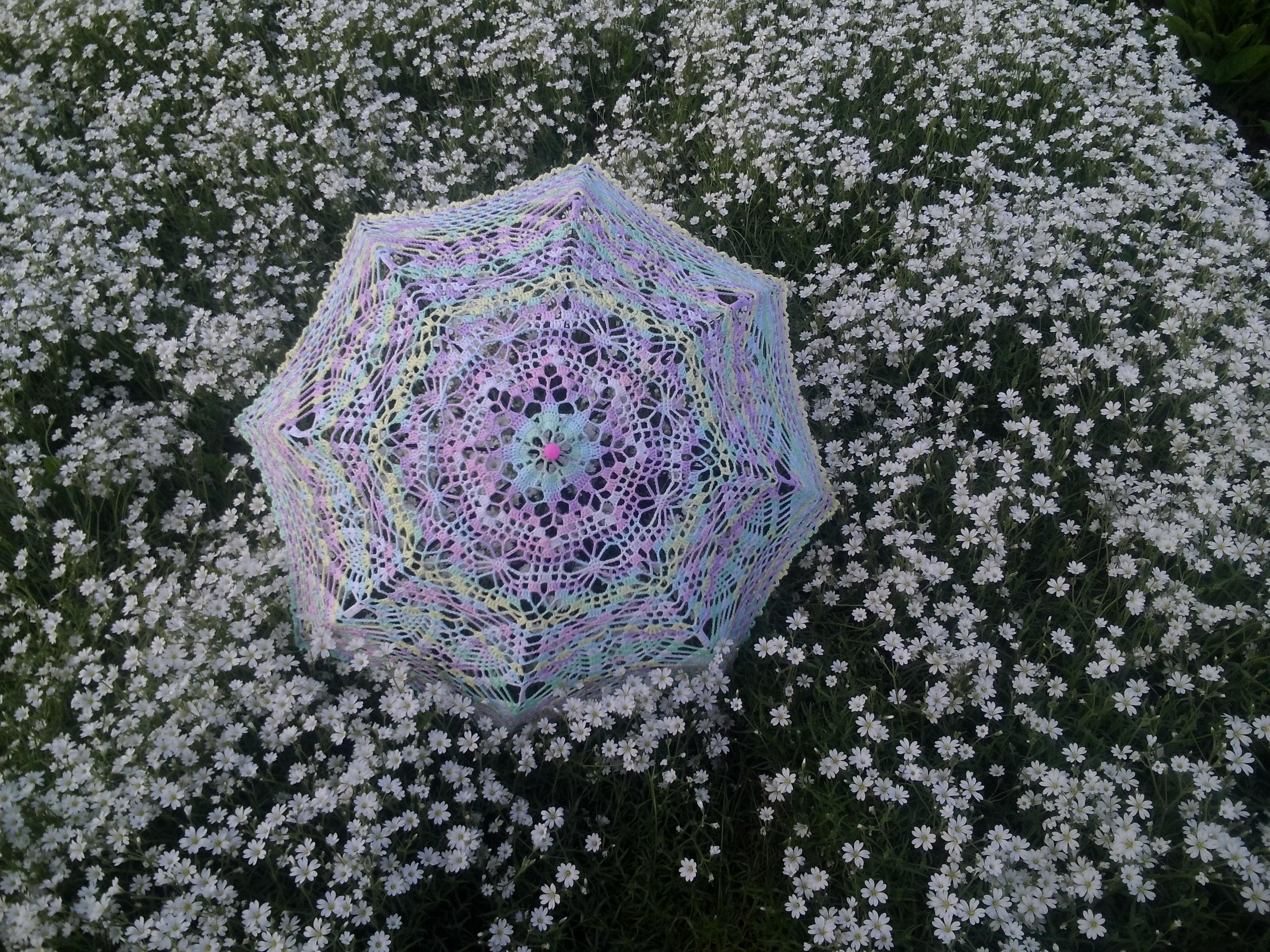 вязание крючком зонтиков со схемами и описанием