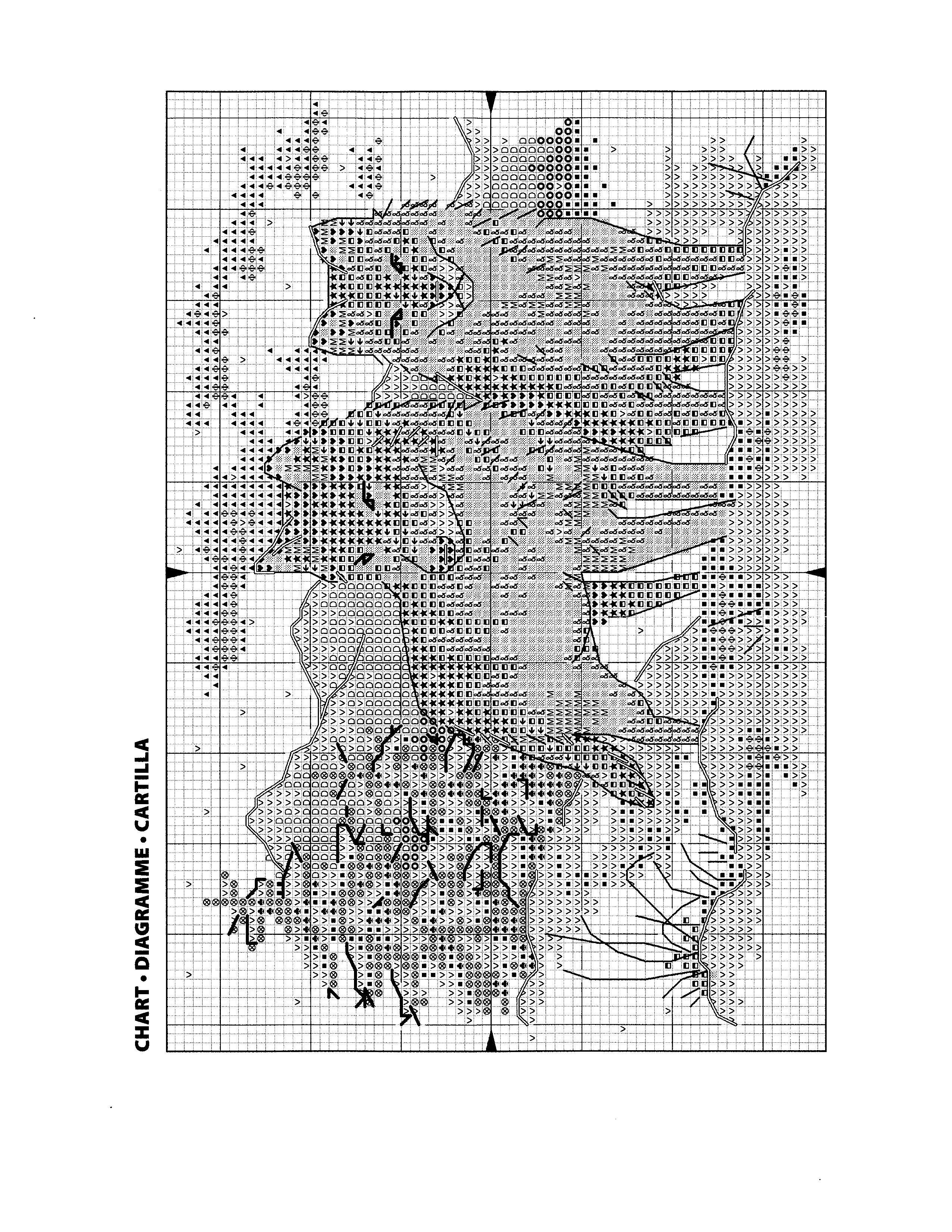 схема вышивки женщина волк