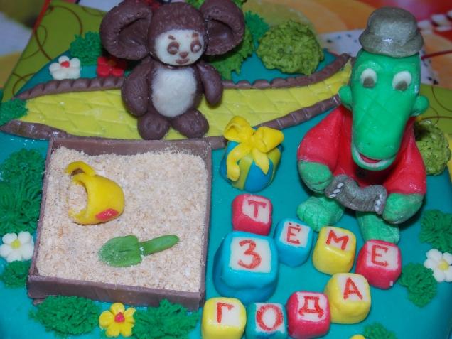 Торт машинка  из сливок 3