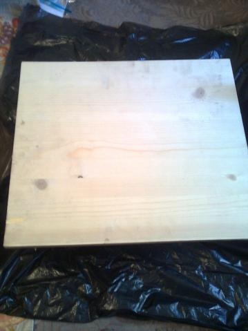 Ну и последнее на сегодня. Это моя попытка брашировки дерева.