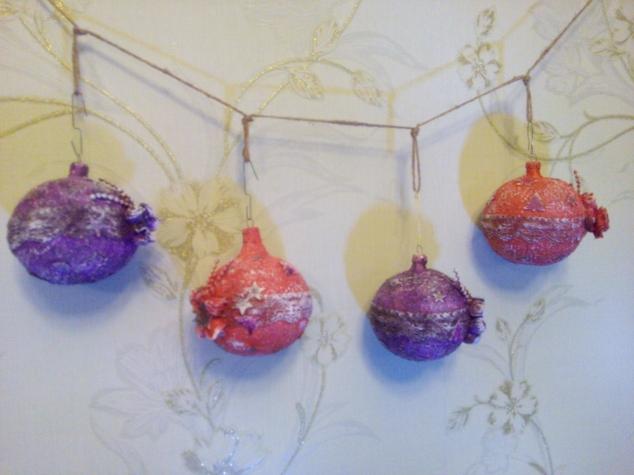 Обновление старых елочных шаров (идея с вебинара)