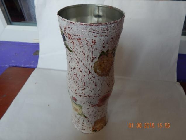 ваза из банок  для дачи