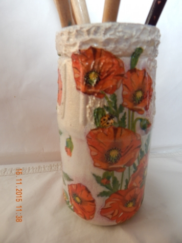 вазочки из баночек и бутылочек