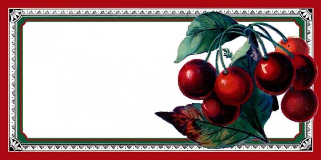 Этикетки для вишневого варенья.