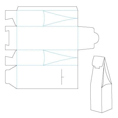 Коробка для бутылки своими руками из картона схема 80