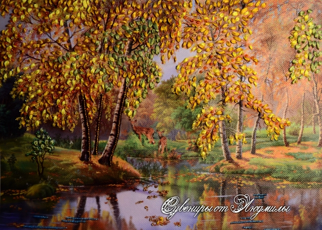 Осенний конкурс! Вышиваю лентами на радость себе и другим! Осенняя пора!