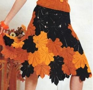 Вяжем крючком стильные юбки.