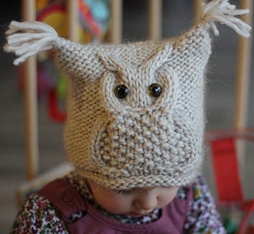 """针织帽子""""一只猫头鹰"""" - maomao - 我随心动"""