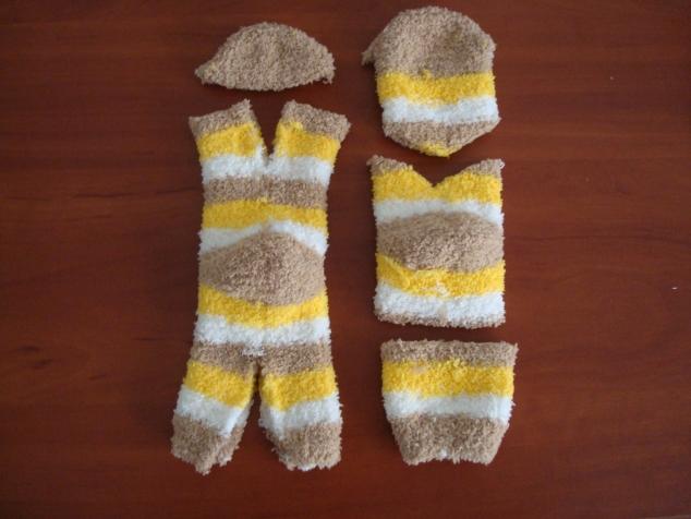 Игрушка котёнок из носка своими руками