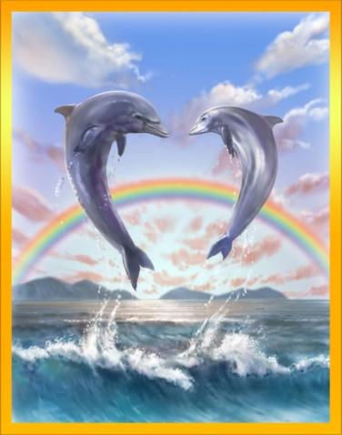 Ищу схему вышивки с парой дельфинов. Поможете?