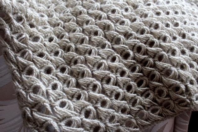 Вязание вытянутыми петлями.
