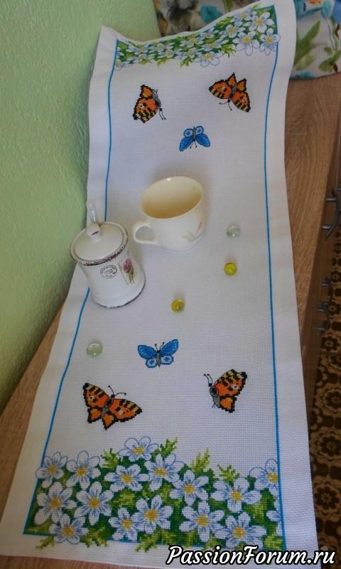 """Цветы и бабочки - пришла весна!, конкурс """"опять весна, вышивка крестиком."""