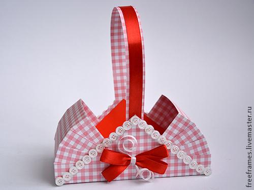 МК по изготовлению подарочной корзинки.