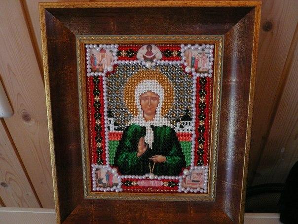икона Святая Блаженная Матрона Московская.