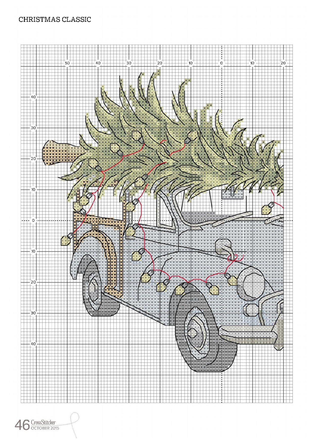 схема вышивки калитка в сад