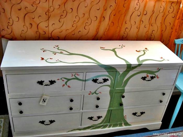 Рисунки на мебели фото