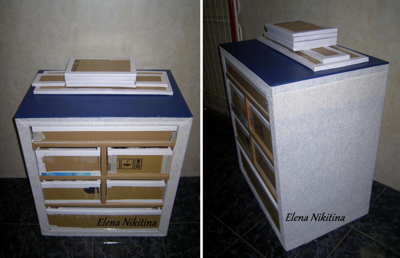 Как сделать коробки для комода