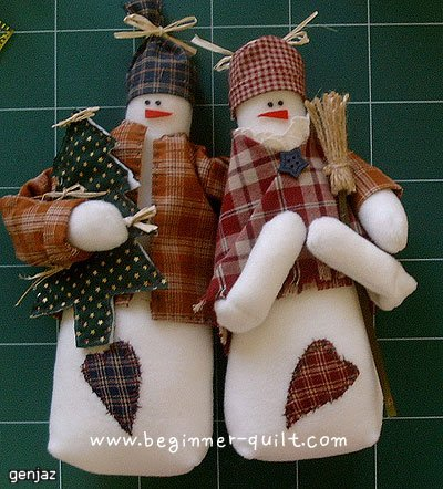 Снеговик из ткани своими руками фото
