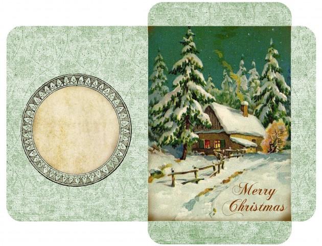 Конверт для рождественской открытки своими руками