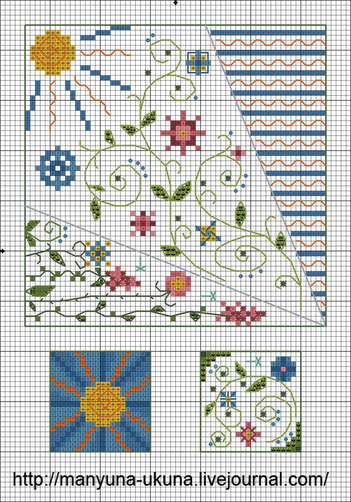 Схема для вышивки крестом чехол для ножниц