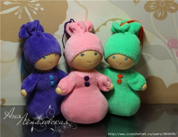 Маленькие куклы своими руками из