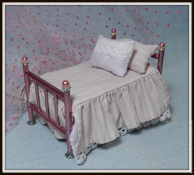 Кровать для кукол фото своими руками