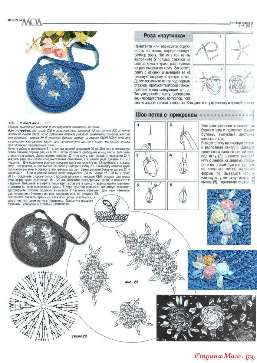 Детские сумочки крючком схемы с описанием