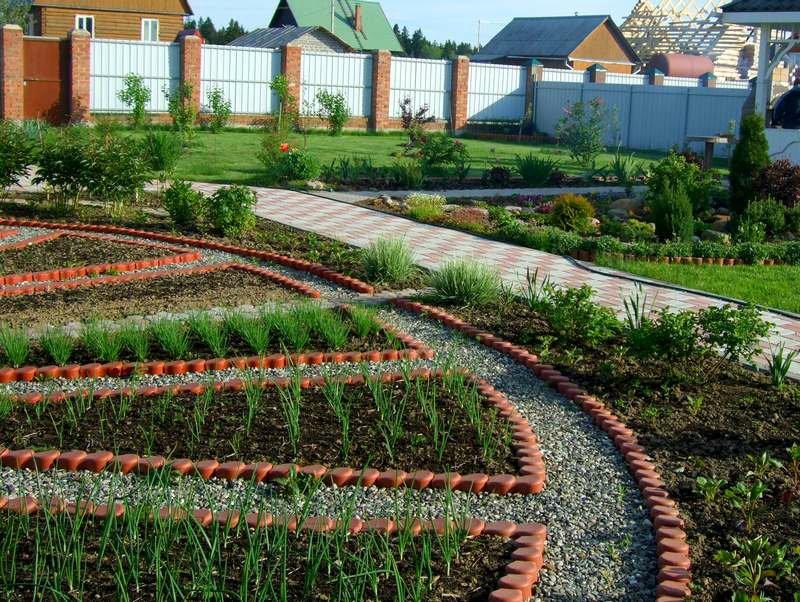 Ландшафт двора частного дома своими руками фото