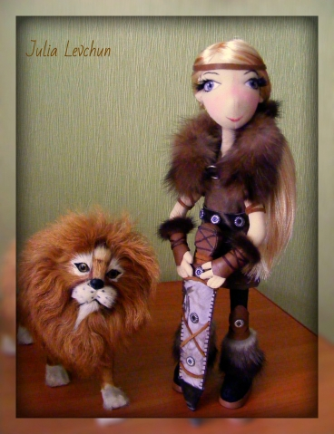 Продается авторская кукла Аника-воин-викинг