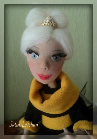 Пчелка Жжжизззель)) Авторская текстильная кукла